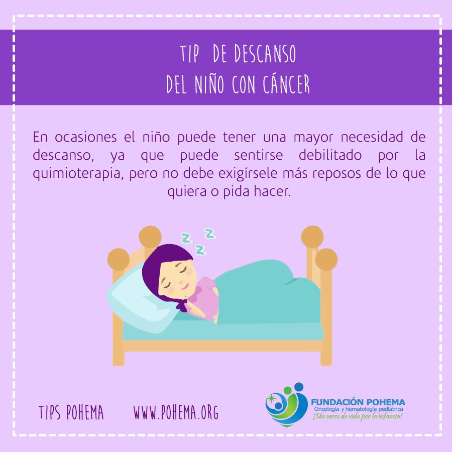 Descanso del niño con cáncer