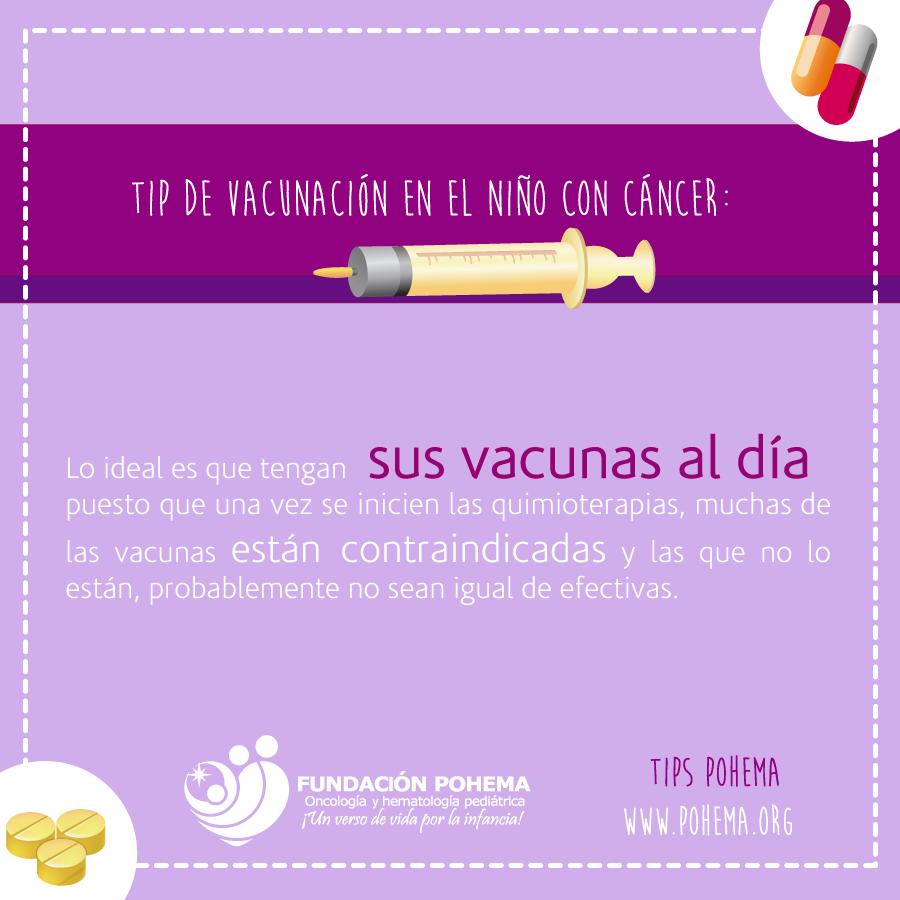 Vacunación en el niño con cáncer